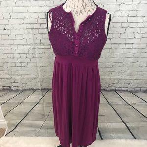 Ella moss purple lace dress